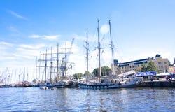 LES COURSES GRANDES KOTKA 2017 DE BATEAUX Kotka, Finlande 16 07 2017 Photos stock