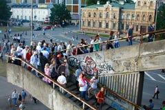Les courses grandes Riga 2013 de bateaux Photographie stock libre de droits