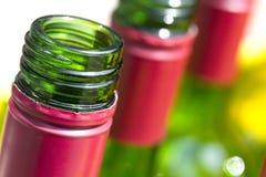 Les cous des boissons alcoolisées Photo stock