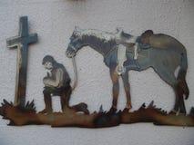 Les cowboys prient photos libres de droits
