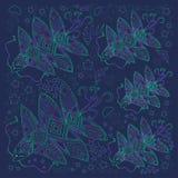 Les créatures d'imagination d'océan, arc-en-ciel ont coloré la découpe sur un fond bleu Illustration Libre de Droits