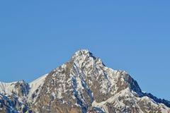 Les crêtes neigeuses du Caucase Photo stock