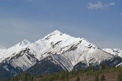 Les crêtes neigeuses du Caucase Photo libre de droits