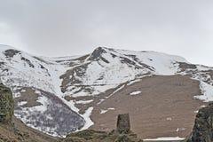 Les crêtes neigeuses du Caucase Images libres de droits