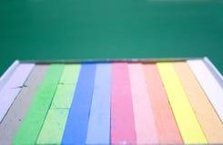 les craies de cadre ont coloré Photos stock