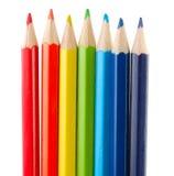 les crayons colorés ont placé Images libres de droits