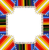 Les crayons encadrent (JPG+EPS) Image stock