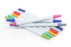 les crayons lecteurs d'isolement d'illustration de couleur de fond ont placé le vecteur blanc Photos stock