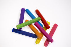 les crayons lecteurs d'isolement d'illustration de couleur de fond ont placé le vecteur blanc Photo libre de droits