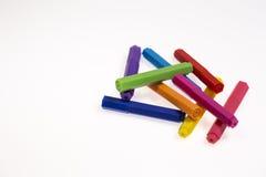 les crayons lecteurs d'isolement d'illustration de couleur de fond ont placé le vecteur blanc Photographie stock libre de droits