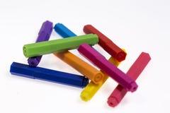 les crayons lecteurs d'isolement d'illustration de couleur de fond ont placé le vecteur blanc Images stock