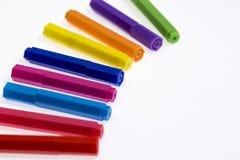 les crayons lecteurs d'isolement d'illustration de couleur de fond ont placé le vecteur blanc Images libres de droits
