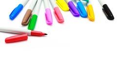 les crayons lecteurs d'isolement d'illustration de couleur de fond ont placé le vecteur blanc Photo stock