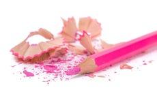 Les crayons multicolores ont placé d'isolement sur un fond blanc Photo libre de droits