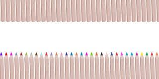 Les crayons ou les crayons en bois colorés aiment une série de colo d'arc-en-ciel Photos libres de droits