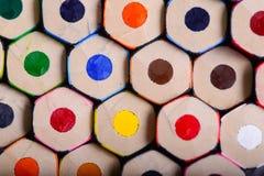 Les crayons se ferment Image libre de droits