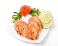 Les crevettes bouillies de tigre Photos libres de droits