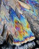 Les cristaux de jus de citron se ferment vers le haut Photos libres de droits