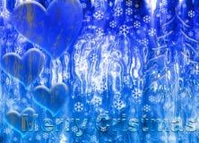les cristmas glacent joyeux Images stock