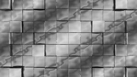 Les cubes argentés se réunissent sur le fond vert illustration de vecteur