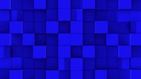 Les cubes bleus se réunissent sur le fond vert illustration de vecteur