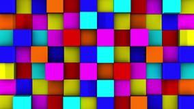 Les cubes colorés se réunissent sur le fond vert illustration libre de droits
