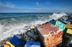 Les cubes de mémoire, Llanes photographie stock libre de droits