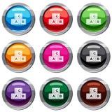 Les cubes en ABC ont placé la collection 9 Images libres de droits
