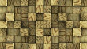 Les cubes en bois se réunissent sur le fond vert illustration libre de droits