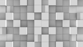 Les cubes gris se réunissent sur le fond vert illustration stock