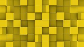 Les cubes jaunes se réunissent sur le fond vert illustration de vecteur