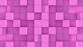 Les cubes roses se réunissent sur le fond vert illustration de vecteur