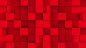 Les cubes rouges se réunissent sur le fond vert illustration libre de droits