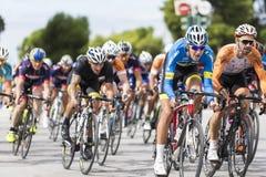 Les cyclistes concurrencent dans les rues centrales de Salonique pendant le t Image stock