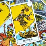 Les débuts de carte de tarot d'imbécile, vide, renaissance, renouvellement, nouvelle phase illustration de vecteur
