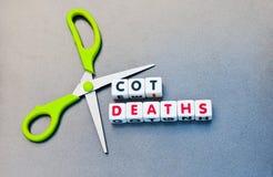 Les décès de berceau de coupe Images libres de droits