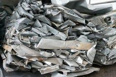 Les déchets d'aluminium se préparent à réutilisent Photo libre de droits