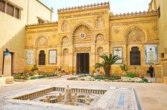 Les décorations découpées du musée copte, le Caire, Egypte image stock