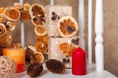 Les décorations de nouvelle année et de Noël Image libre de droits