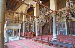 Les décors riches de la mosquée d'Al-Muayyad, le Caire, Egypte image libre de droits
