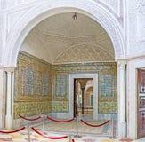 Les décors riches du palais de Hafsid image libre de droits