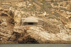 Les défenses de guerre civile espagnole, Carthagène Photographie stock