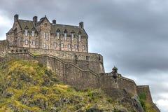 Les défenses occidentales du château d'Edimbourg Image stock