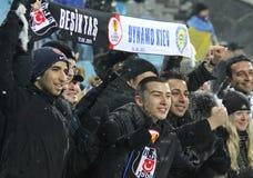 Les défenseurs de FC Besiktas affichent leur support Image stock