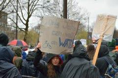 Les démonstrations marchent pour des politiques plus fortes de changement climatique aux Pays-Bas photos stock