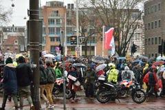 Les démonstrations marchent pour des politiques plus fortes de changement climatique aux Pays-Bas photo stock