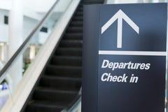 Les départs signent le signe Images stock