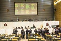 les députés d'état discutent les lois dans l'ensemble législatif de l'état de Sao Paulo photos stock