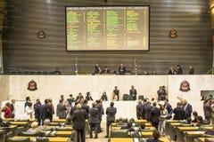 les députés d'état discutent les lois dans l'ensemble législatif de l'état de Sao Paulo photo libre de droits