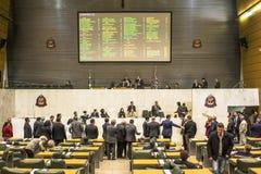 les députés d'état discutent les lois dans l'ensemble législatif de l'état de Sao Paulo photo stock